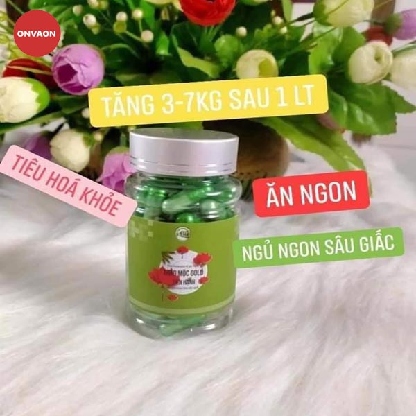 Thao duoc Gold Tien Hanh tang 3 - 7 KG sau 1 lo trinh