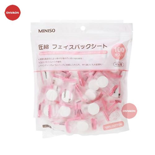 Mặt nạ giấy nén Miniso Nhật Bản 100 Viên