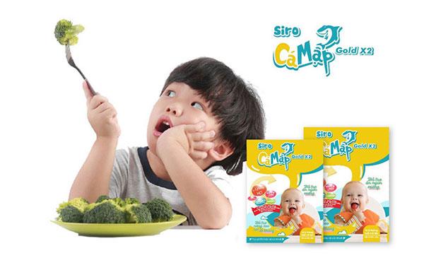 Siro Ăn Ngon Cá Mập Gold X2 giúp trẻ ăn ngon