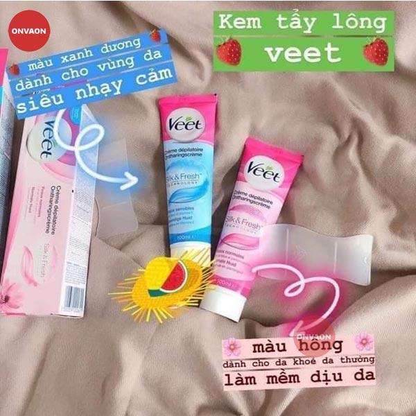 Kem tay long Veet 2