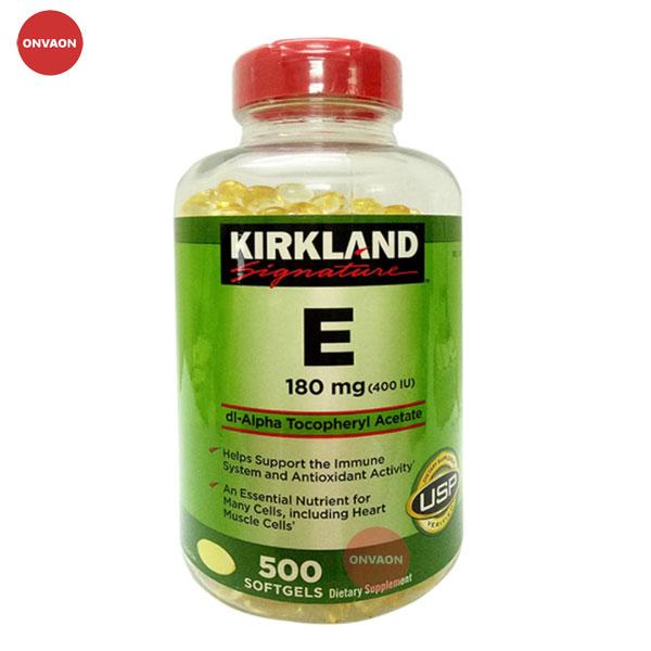 Viên uống đẹp da bổ sung Vitamin E 400 I.U Kirkland